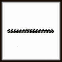 Разделитель на 15 нитей, серебро (4,6*0,4*0,1) 17 шт. в уп.