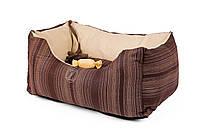 """AnimАll  лежак для собак   """"Natural"""" (100% cotton) №2 двусторонний  52 × 35*25 cm (коричневый)"""