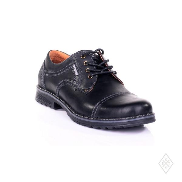 Мужские туфли кожаные черные  40 р,45 р  арт 009.