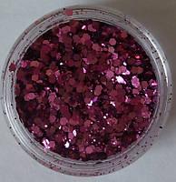 """Блеск для дизайна ногтей """"Брокард"""", 3 г, цвет:розовый"""