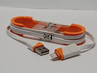 USB-кабель 2 в 1 для iPhone 5/6 + microUSB 1м Data-кабель Оранжевый
