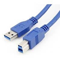 4-0059. Шнур USB (шт.A- шт.В), version 3.0, 1,5м, синий