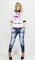 Женская шифоновая рубашка Dolce & Gabbana