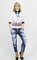 Женская шифоновая рубашка Moschino