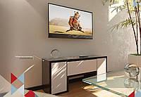 Тумба TV-line 10 цвет Венге-белый супермат