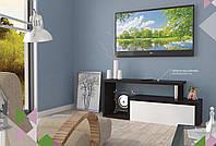 Тумба TV-line 09  Венге-белый супермат (ширина 1264 см)