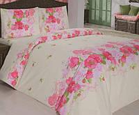 Постельное белье 145х210/70*70  ARYA Classi  Flora розовый