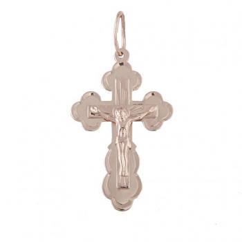 Золотой нательный крестик с распятием 21556