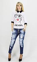 Женская шифоновая рубашка Prada