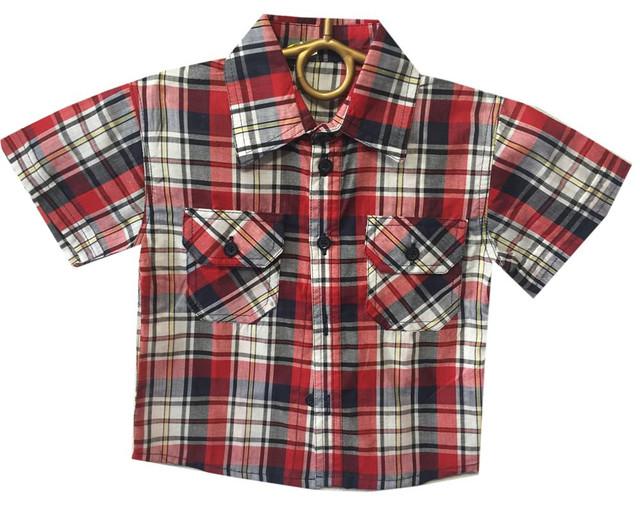 Детские летние рубашки на мальчиков оптом