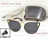 Женские солнцезащитные очки Alexander McQueen черные золото черепа череп Александр Маккуин Маквин