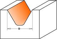 Фреза CMT для гравировки профильная D28-l19-R3,2-A60-L63,5-d12