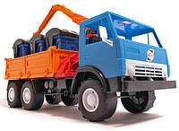 Игрушечная машинка К-маз Х3 Бортовая с Манипулятором (280) Орион
