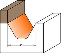 Фреза CMT для гравировки профильная с верхним подшипником D28-l19-R3,2-A60-L63,5-d12