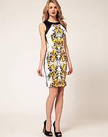 Оригинальные платья. Распродажа.Черно - белое платье Karen Millen с цветочным принтом и молнией сзади KM70008