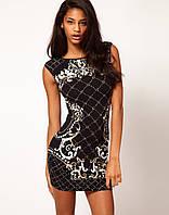 Черное платье Klimeda с оригинальным узором KM70031