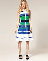 Распродажа остатков. Полосатое платье Karen Millen на кнопках под пояс KM70071