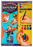Расписной гипсовый барельеф, Лиса, РГБ-02-08