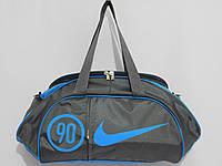 Сумка текстильная NIKE серый с голубым, фото 1