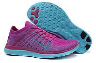 Женские кроссовки Nike Free 4.0 Flyknit Purple/Blue