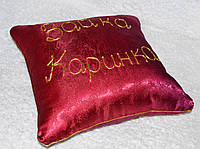 Декоративная подушка 40*40 цвет бордо