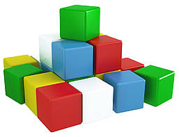 Кубики пластмассовые. Веселка 3 1707 Технокомп