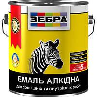 Емаль алкідна 0,9кг ПФ-116 ЗЕБРА 55 Яскраво-жовтий, фото 1