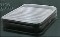 Надувная велюр-кровать Intex со встроенным электронасосом 152х203х42 см (64436)