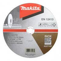 Диск відрізн. Makita 230х1,9х22мм 60Т нерж.сталь плаский В-12273
