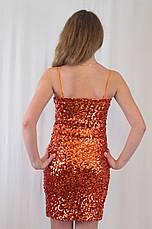 Шикарное вечернее блестящее платье из пайеток., фото 2