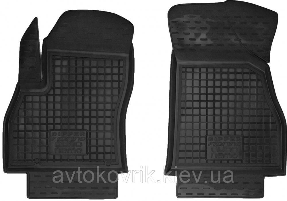 Полиуретановые передние коврики в салон Fiat Fiorino III 2007- (AVTO-GUMM)