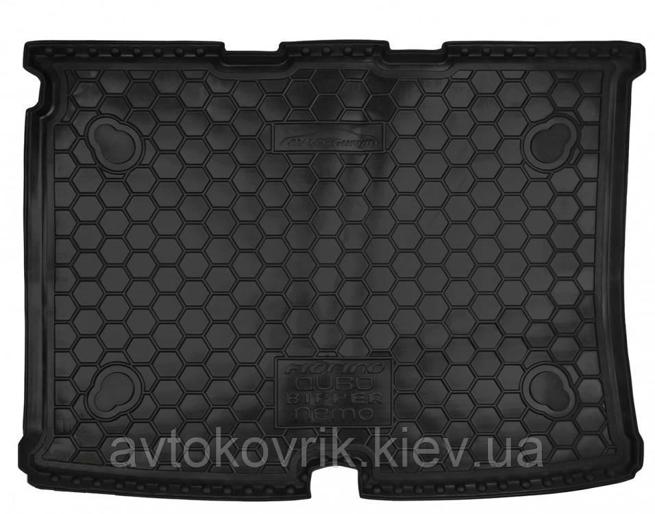 Полиуретановый коврик в багажник Fiat Qubo 2008- (AVTO-GUMM)