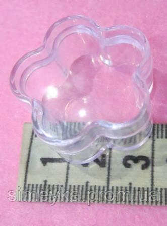 Органайзер-цветок диаметр 3 см, высота 1,7 см, 1 шт - для бисера, бус, мелкой фурнитуры