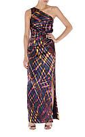 Оригинал. Полная распродажа.Шелковое длинное платье Karen Millen в бордовых тонах KM70300