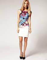 Оригинал. Полная распродажа 70% скидка. Платье Karen Millen белого цвета с цветочным принтом KM70231