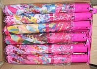 Складной зонт полуавтомат для девочек Принцессы, Винкс