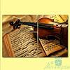 Модульная картина Скрипка и ноты из 3х фрагментов