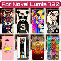 Силиконовый чехол для Nokia Lumia 730 735 с рисунком