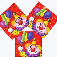 """Паперові серветки """"Клоун з кульками"""""""