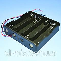 Відсік для батарей 18650*4шт, контакт-пружина, Китай