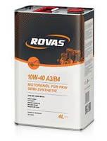 Полусинтетическое моторное масло Rovas 10w-40 A3/B4 4l