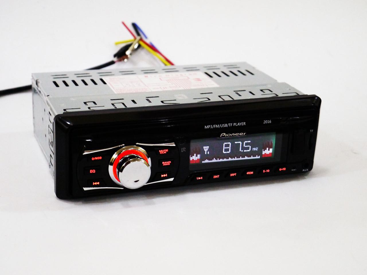 Автомагнитола Pioneer 2016 ISO USB+SD+FM+AUX+ пульт (4x50W)