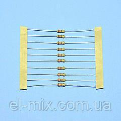 Резистор  0,25Вт   2,2 Om 5% d2.5 L6,8 лента  Royal Ohm / продажа кратно 10шт