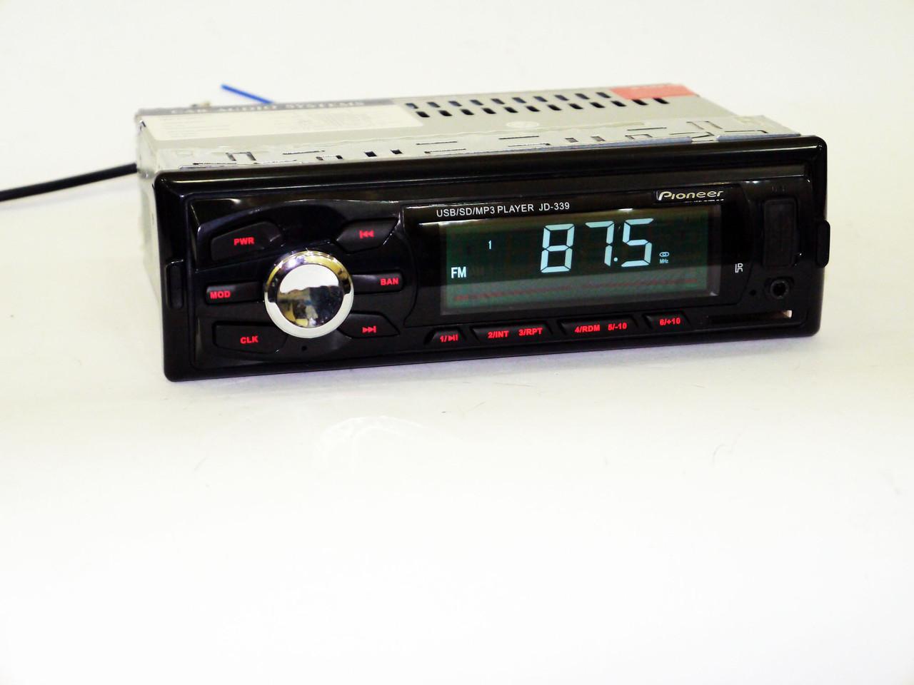 Автомагнитола Pioneer JD-339 ISO USB+SD+FM+AUX+ пульт (4x50W), фото 1