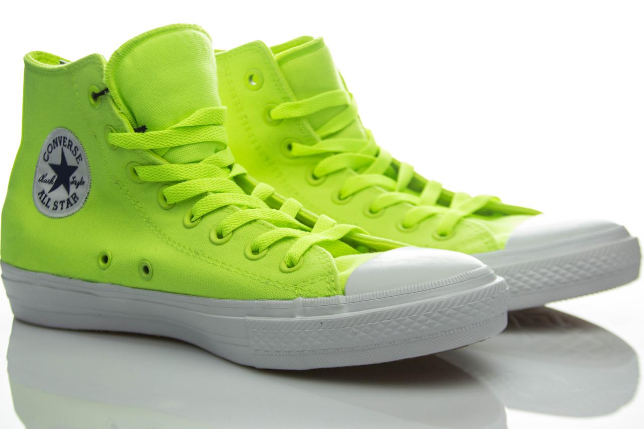 Кеды высокие Converse Chuck Taylor All Star II Volt Green