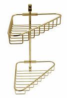 Золотая полочка-решетка для душа Paccini&Saccardi Lente Otica GRI02 2 яруса