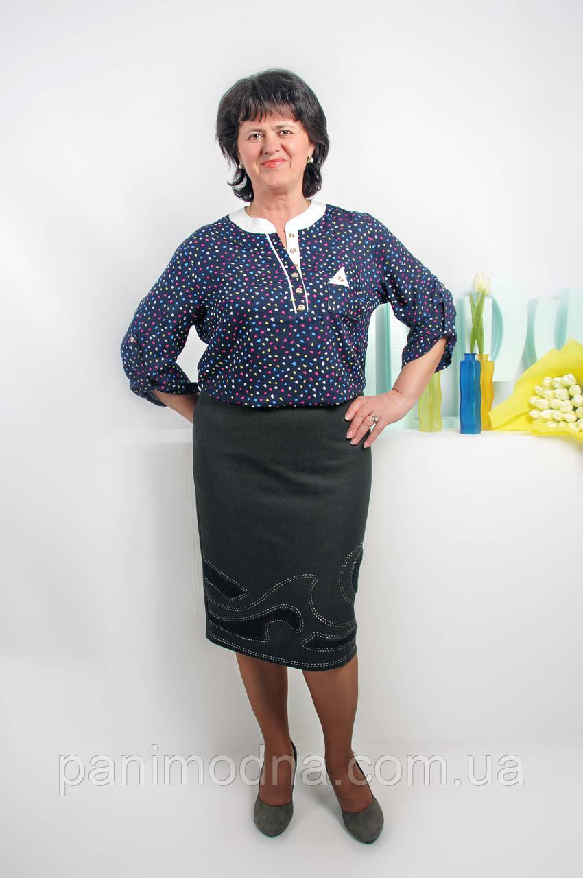 """Блуза женская из штапеля """"Фурор"""". От производителя - швейная фабрика."""