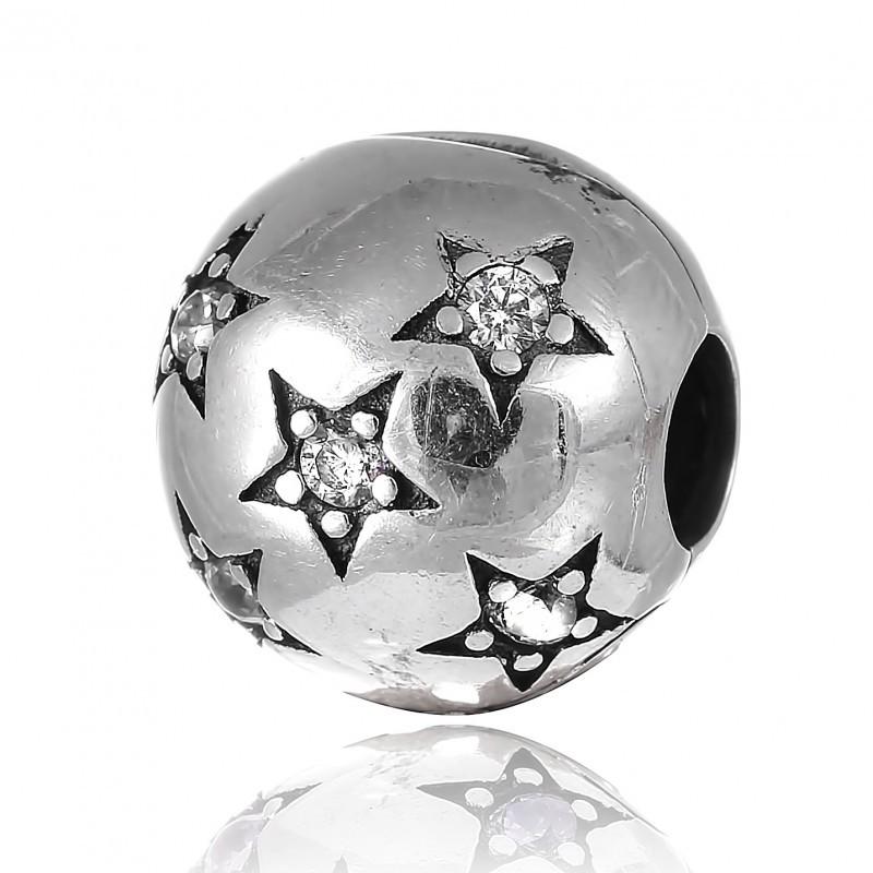 Шарм бусина Пандоры Звезды серебро 925 пробы П5Ф/8078