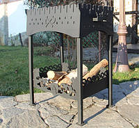 Кованый мангал + дровница, сталь 4 мм, №1