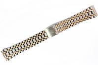 Браслет классический Nobrand для наручных часов комбинированный (серебро , золото), 18 мм